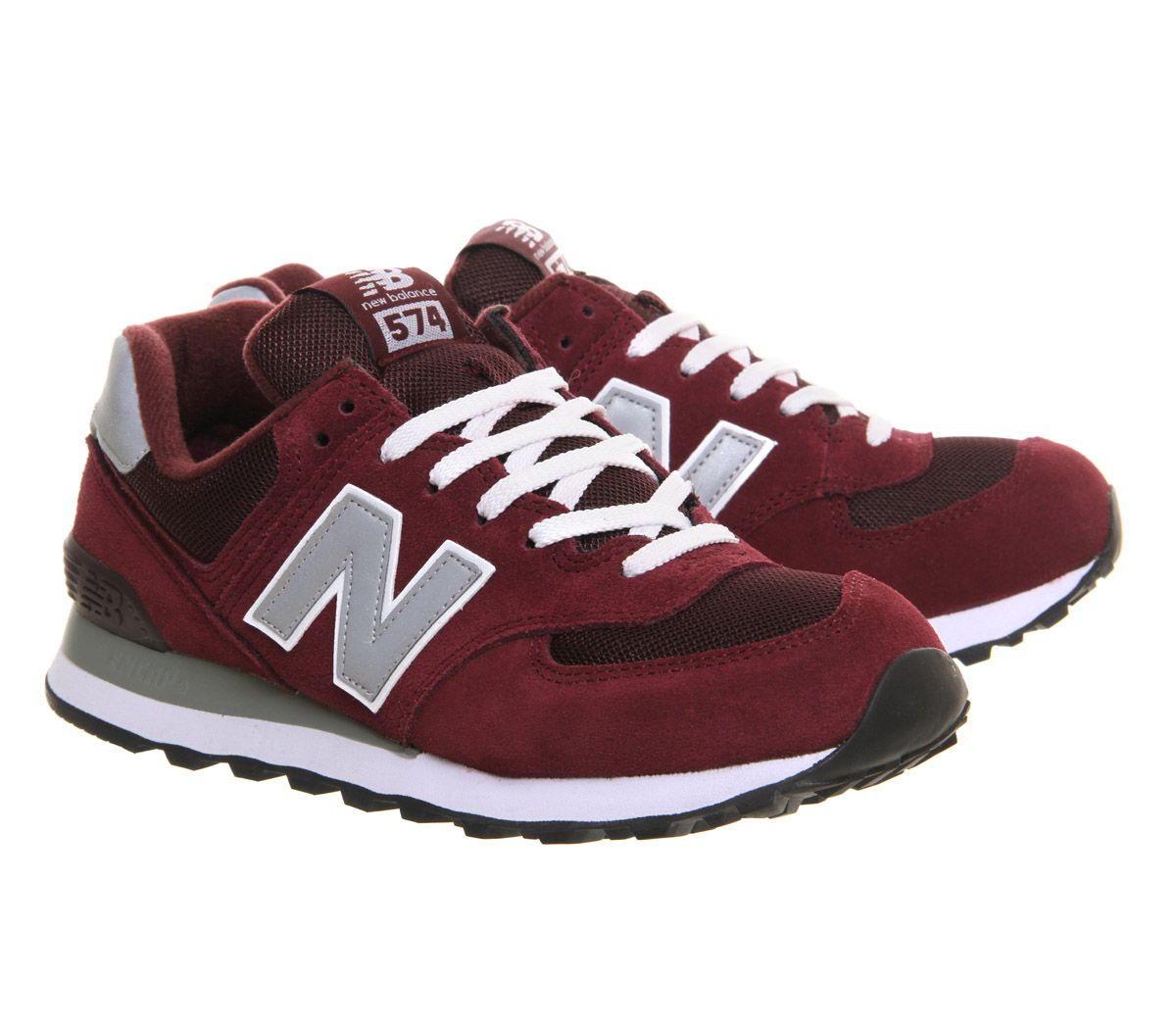 best loved 1f15c 1151b Buy Maroon Grey New Balance M574 from OFFICE.co.uk. | Shoes ...