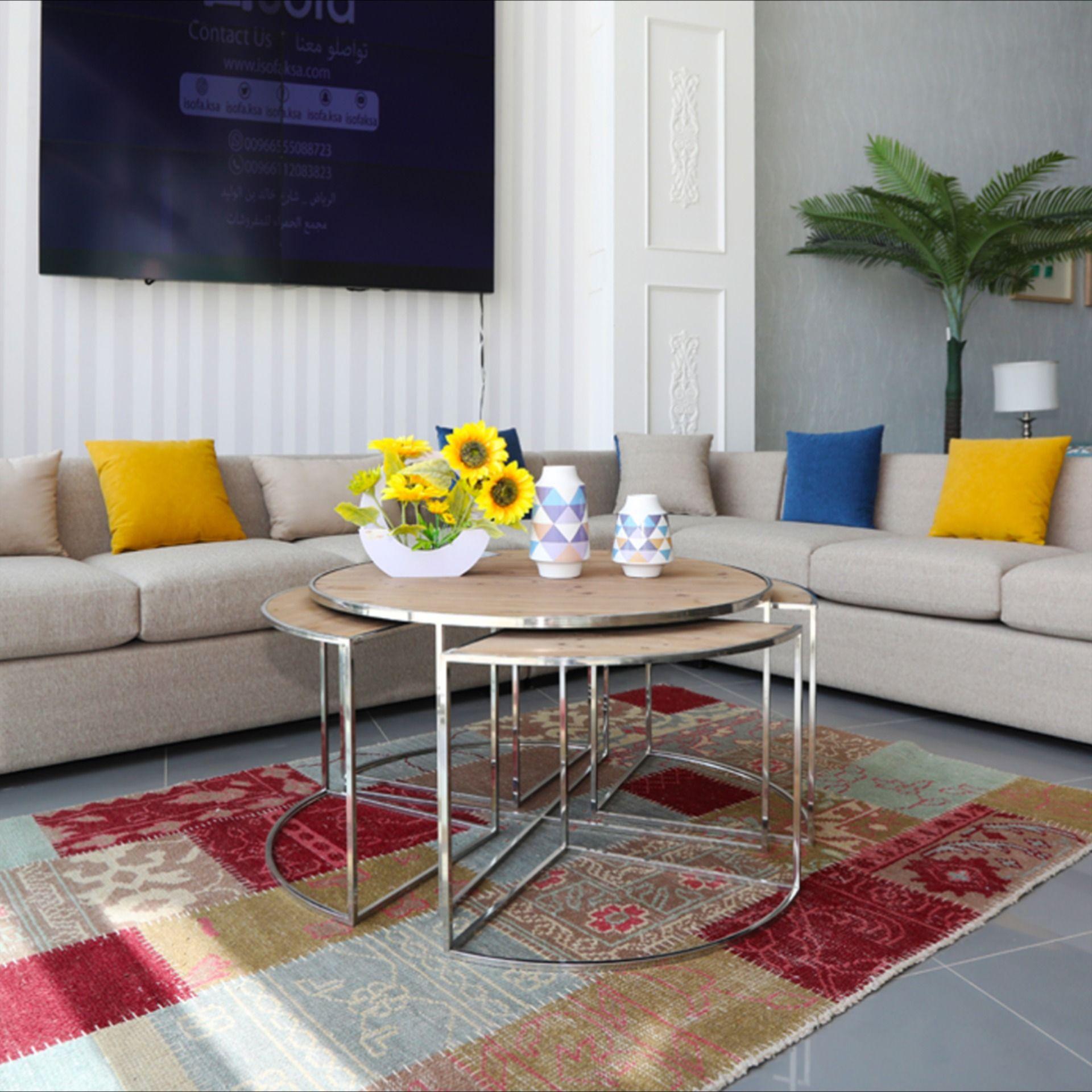طقم كنب زاوية بلمسة عصرية Coffee Table Home Decor Decor