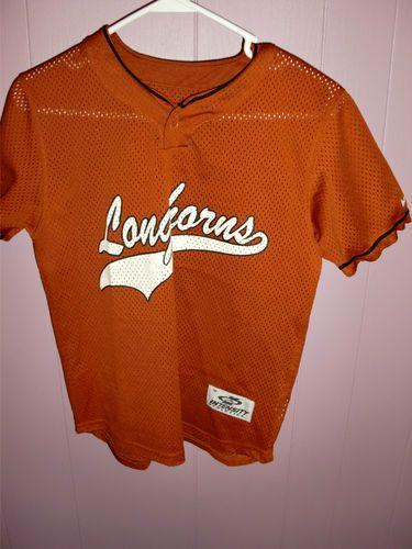 size 40 be8e7 ab9b8 Texas Longhorns RARE Baseball Jersey Size Youth Medium 2 ...