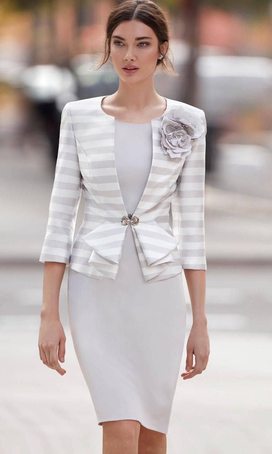 24a2b0b805d83c Carla Ruiz Dress   Jacket 94673 Grey Who says wedding outfits can t be  modern and fashionable  This stunning outfit by Spanish designer Carla Ruiz  features ...