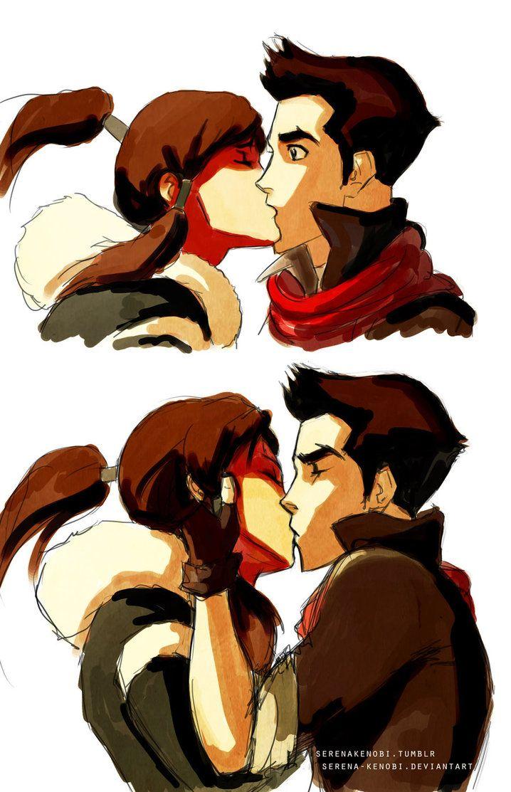 Legend Of Korra Kiss : legend, korra, Korra, Mako's, Romantic, Scene, Legend, Avatar,, Korra,