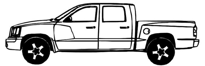 Dodge Dakota Truck Coloring Page Dodge Dakota Truck Coloring