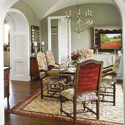 Mix Upholstery Add Textural Depth By Mixing Fabrics These Dining Chairs Sport Patterned