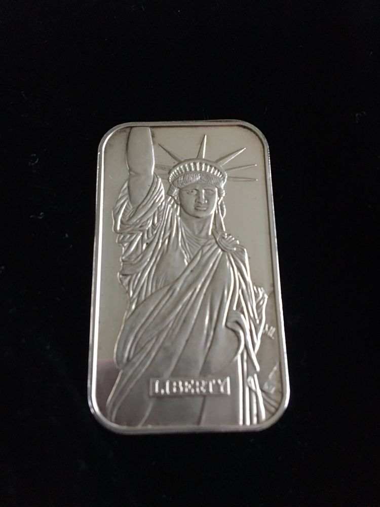 Engelhard Liberty Trade Silver Bar 999 One Troy Ounce Fine Silver Libertytradesilver