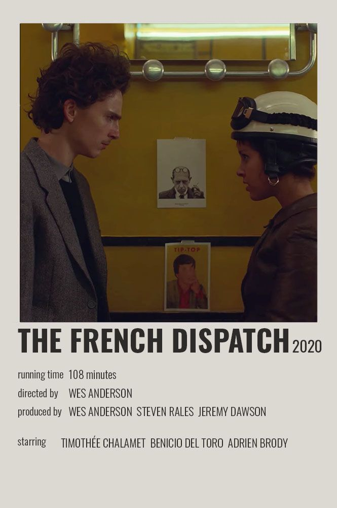 The French Dispatch Polaroid Poster In 2020 Movie Poster Wall Film Posters Minimalist Movie Posters Vintage