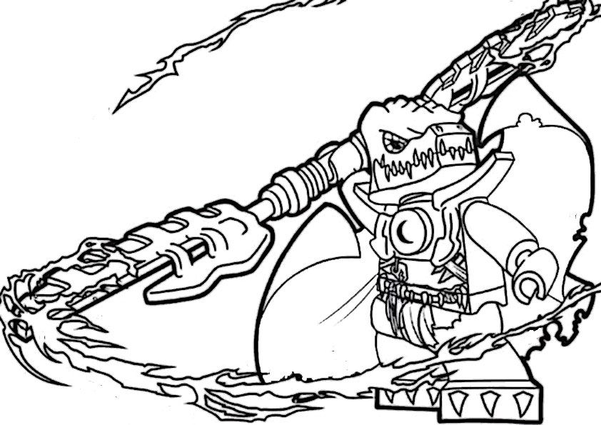 Lego Chima Coloring Pages Alligator Wilhurt Chima LEGO Coloring ...