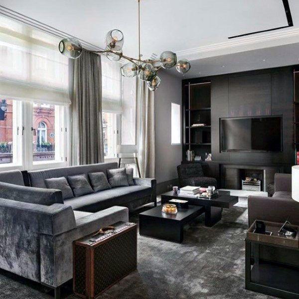 100 Bachelor Pad Living Room Ideas For Men Masculine Designs Grey Sofa Living Room Living Room Grey Gray Sofa Living