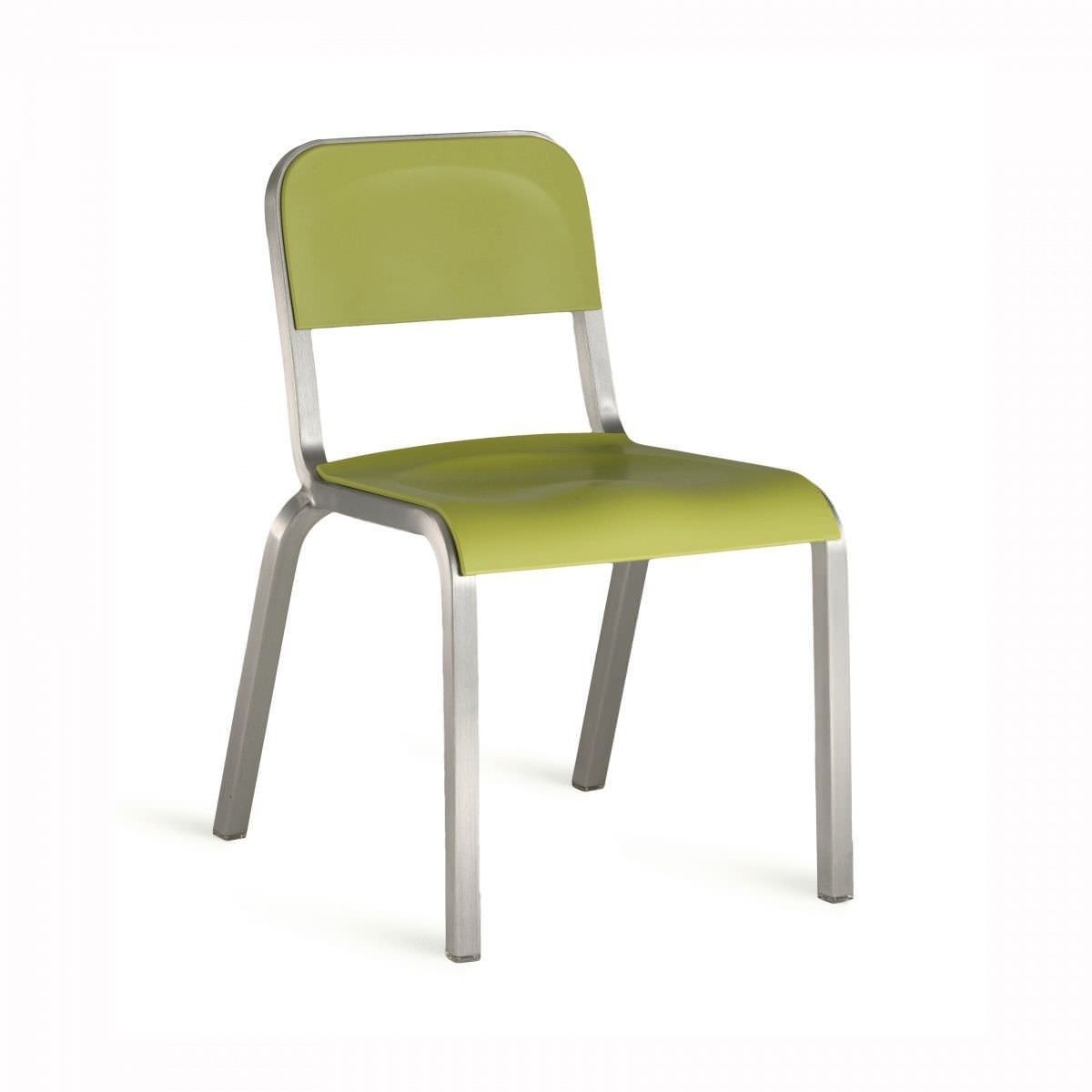 restaurant chair contemporary stackable plastic 1951 by