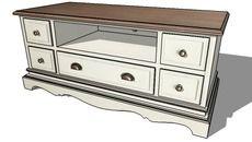 3d Model Of Meuble Tv Leontine Maisons Du Monde Ref 129840 Prix 229 Home Decor Furniture