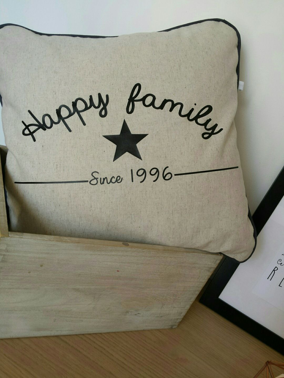 Housse de coussin happy family personnaliser for Couture housse coussin