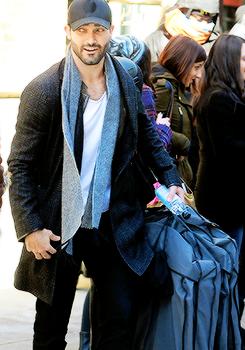 Tyler Hoechlin leaving his hotel in NYC