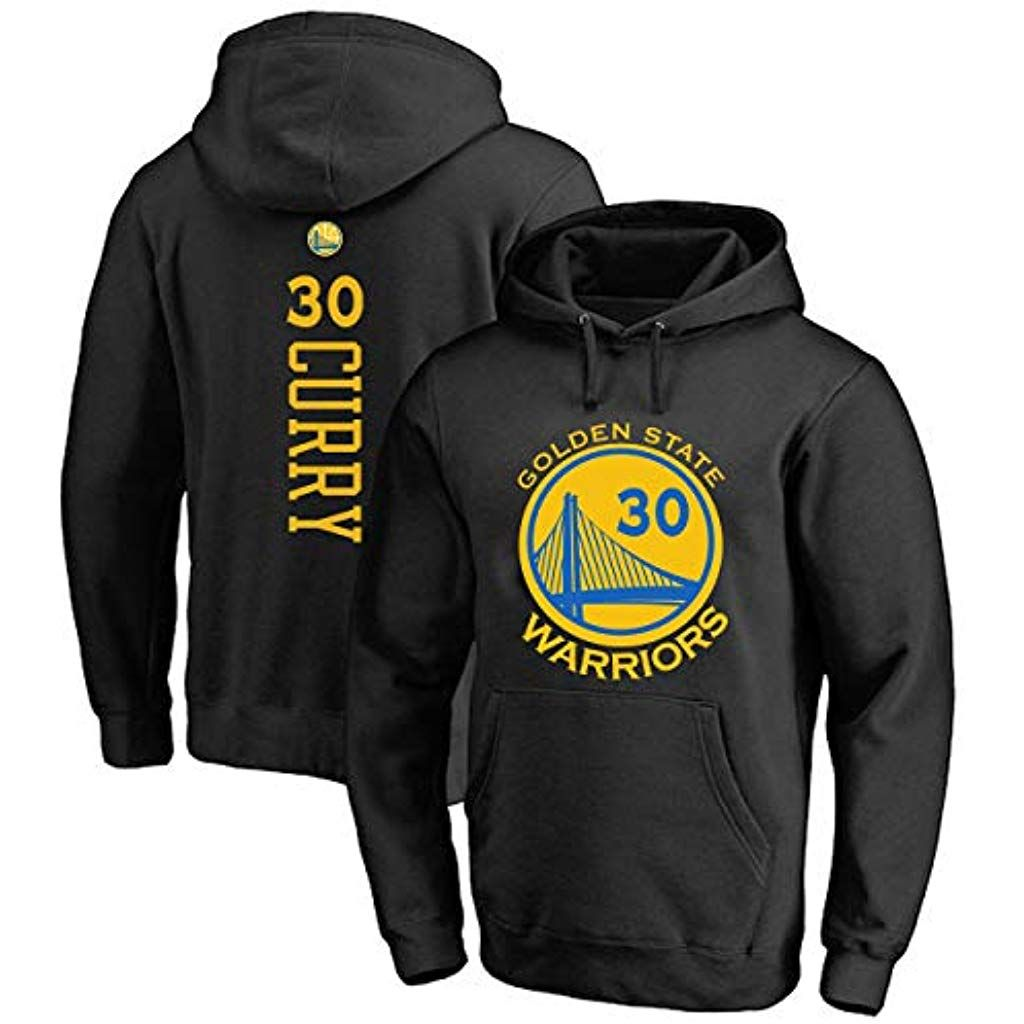 Mens and Womens Basketball Hoodie NBA Warriors 30# Curry Jersey Hooded Pullover Loose Basketball Swe...