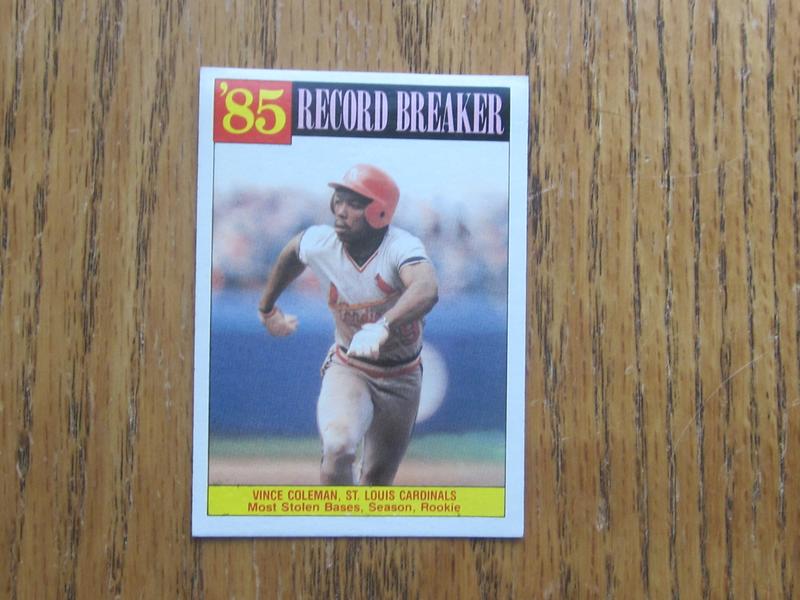 1985 86 Topps Vince Coleman Baseball Card No 201
