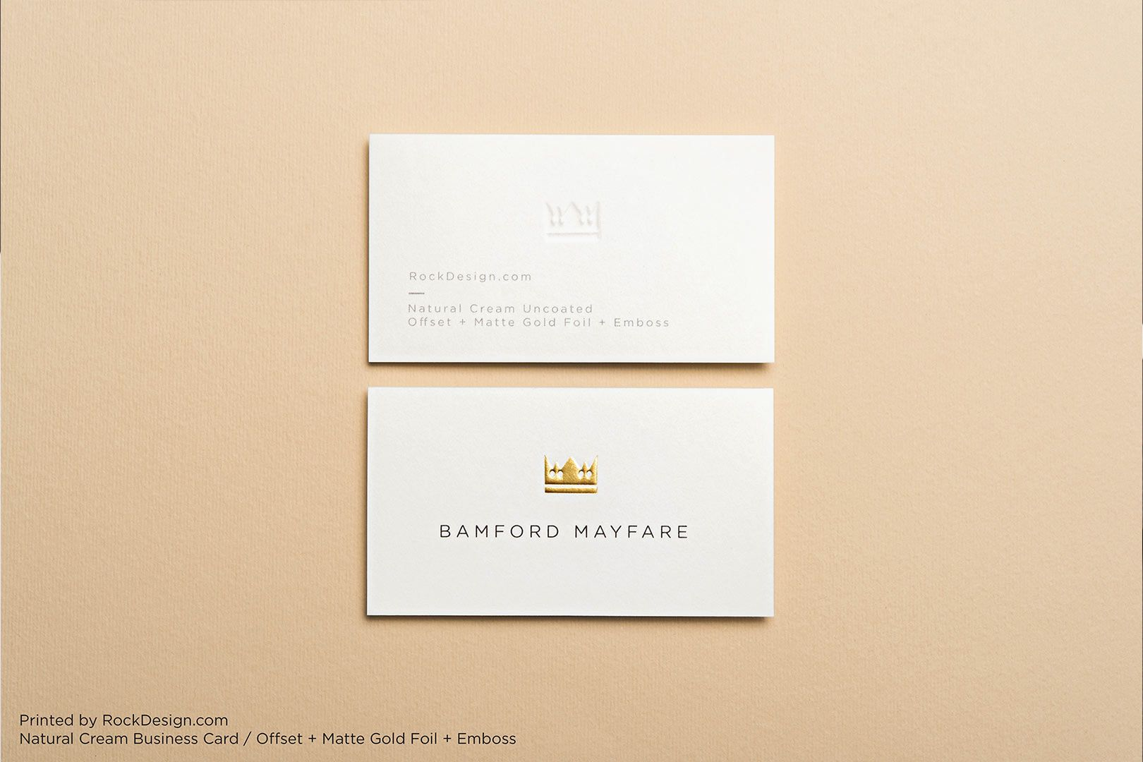 Natural Cream Uncoated Business Cards | RockDesign Luxury Business ...