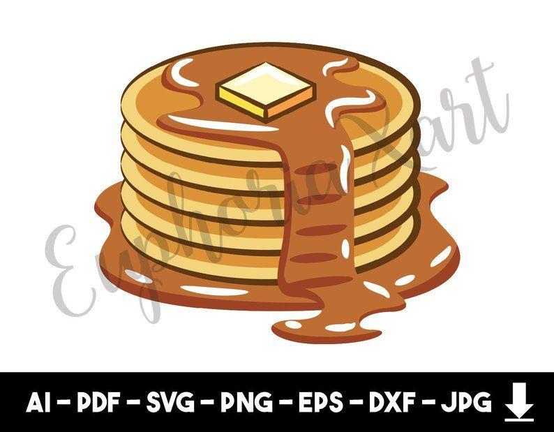 Pancake Svg Pancake Clipart Pancake Graphic Pancake Etsy Cake Clipart Clip Art Pancakes Clipart