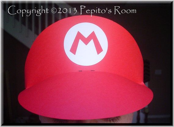 PH01 Super Mario Bros Party Hat Template SVG \/ Printable PDF - party hat template