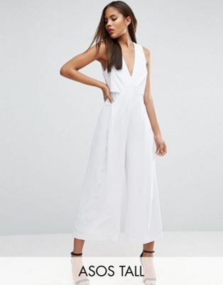 ASOS TALL Jumpsuit with Origami detail and Culotte leg