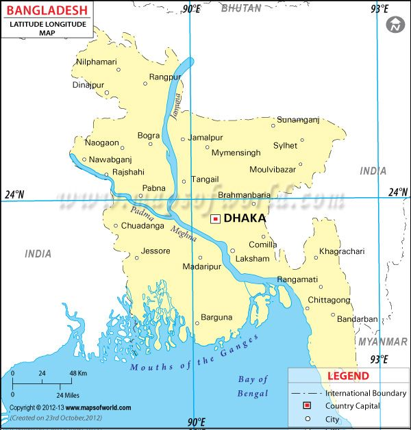 Pin by mapsofworld on latitude longitude maps pinterest 90 degrees latitude and longitude of bangladesh is 24 degrees n and 90 degrees e find bangladesh latitude and longitude map showing comprehensive details including gumiabroncs Gallery