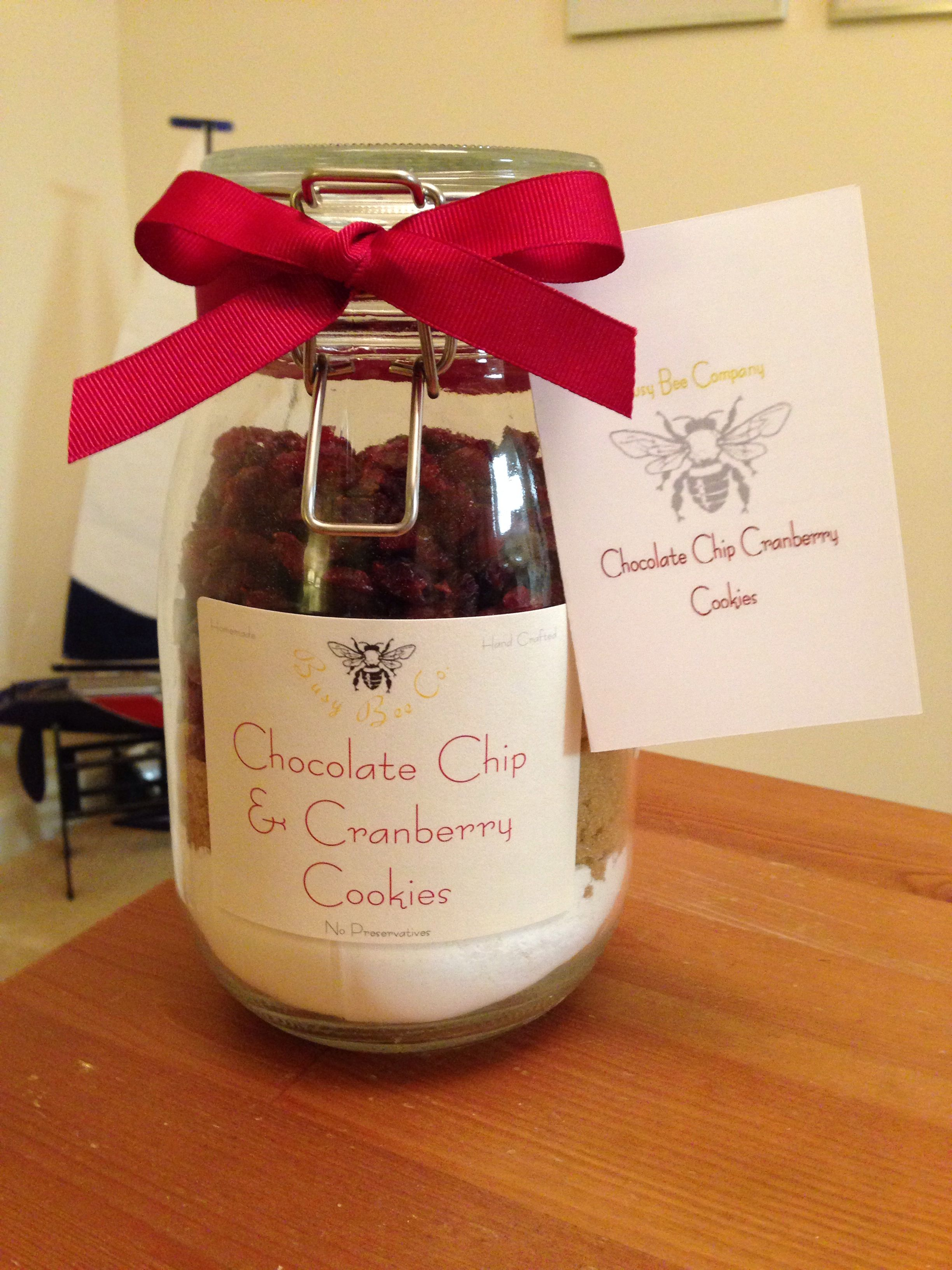Homemade Chocolate Chip & Cranberry Cookie Mix!