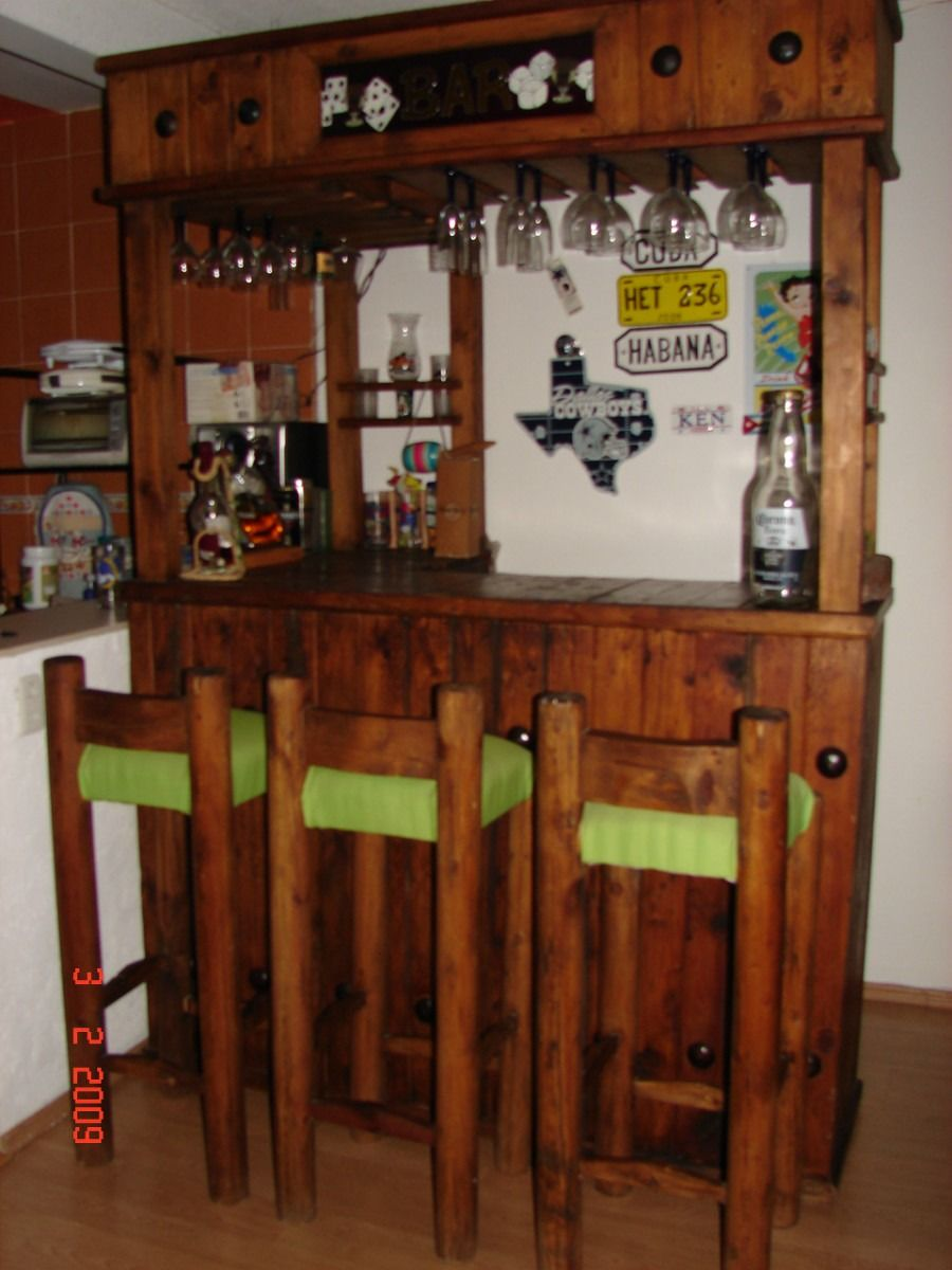Bonita cantina cocinas peque as pinterest cantinas for Muebles para bar en madera