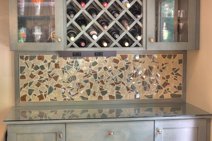 Broken Glass Tile Backsplash | Bathrooms | Pinterest