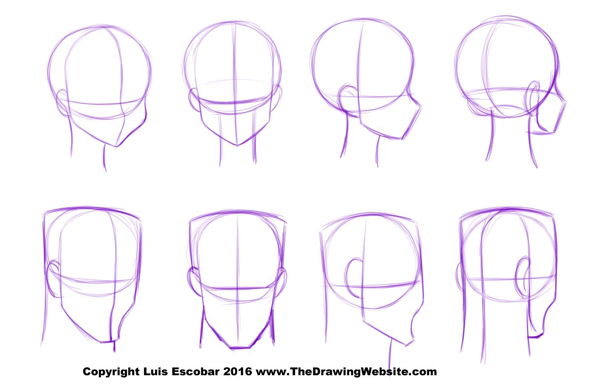 Uncategorized Drawing Websites Online art by luis escobar blogwebsite httpwww cartoon features and parts 3 head formulas now you know what need to about drawing cartoons