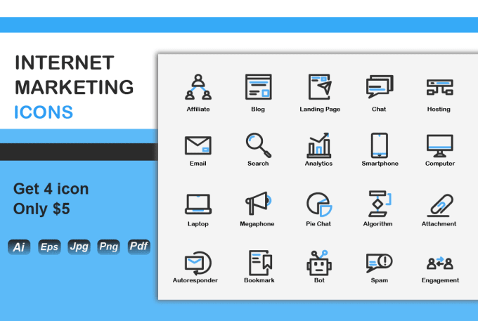 Get Everything You Need Starting At 5 Fiverr Marketing Icon Icon Set Marketing