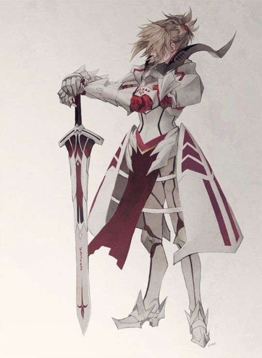 Knight Of Rebellion Fate Anime Series Fate Apocrypha Mordred Character Art