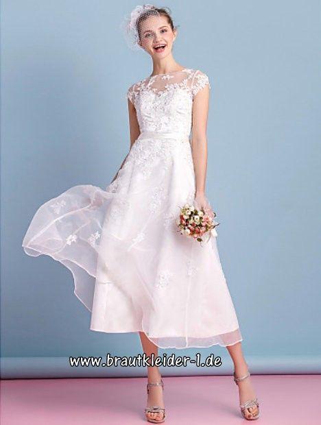 Wadenlanges Vintage Brautkleid 2018 Claudia mit Spitze im ...