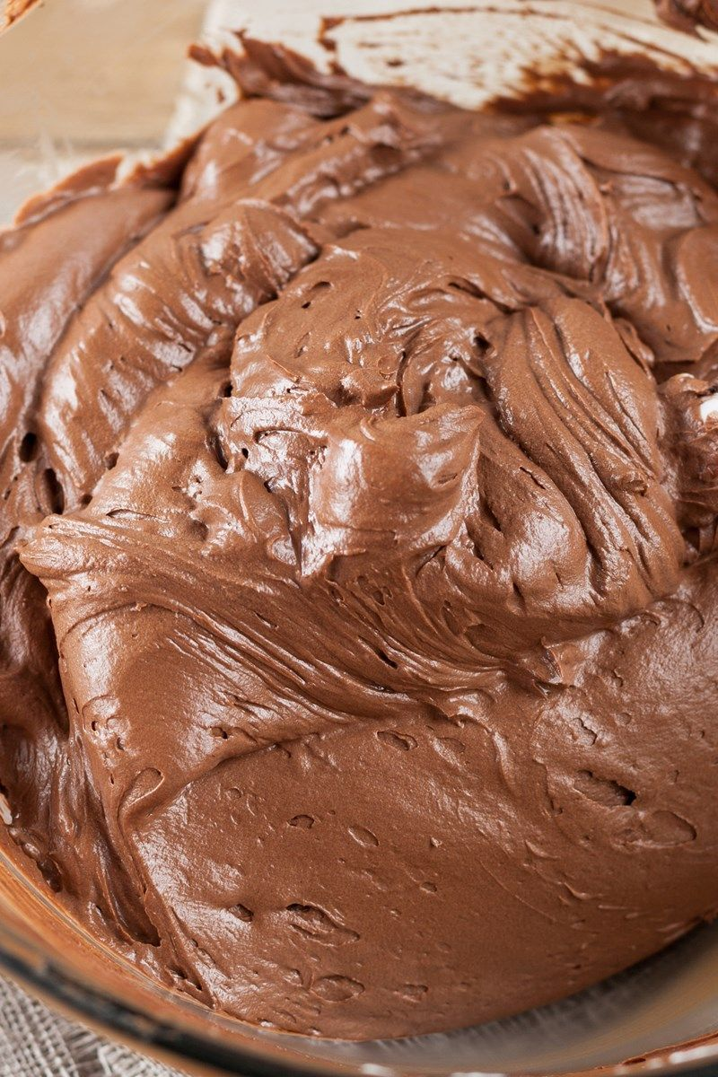 Creamy Chocolate Frosting Recipe - a light and fluffy no cook ...