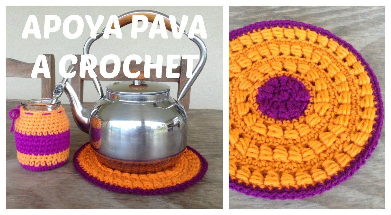 Apoya pava a crochet paso a paso