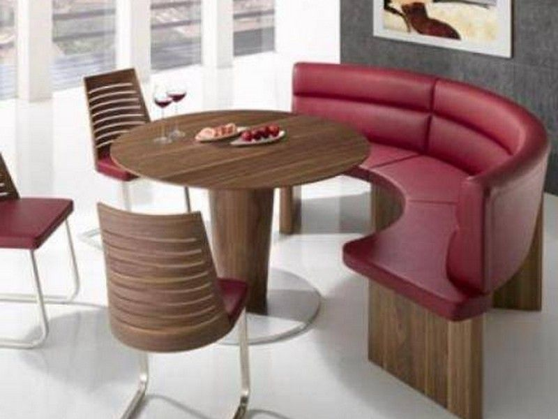 Curved Dining Settee Pretty Fabulous Round Dining Table W 3