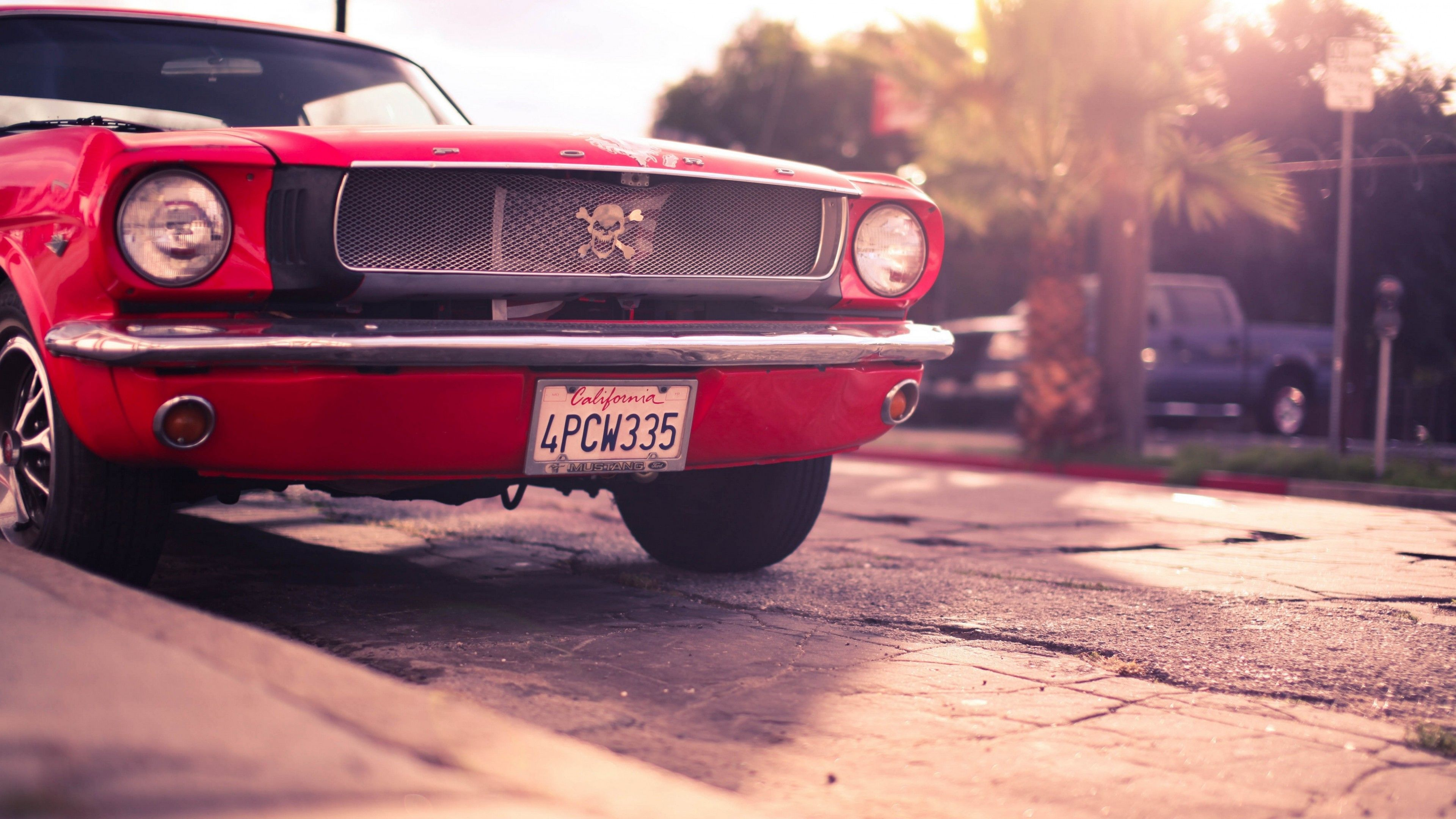 Classic Cars Hd Wallpapers 4k: Ford Mustang Classic Red 4K Wallpaper #ford #mustang