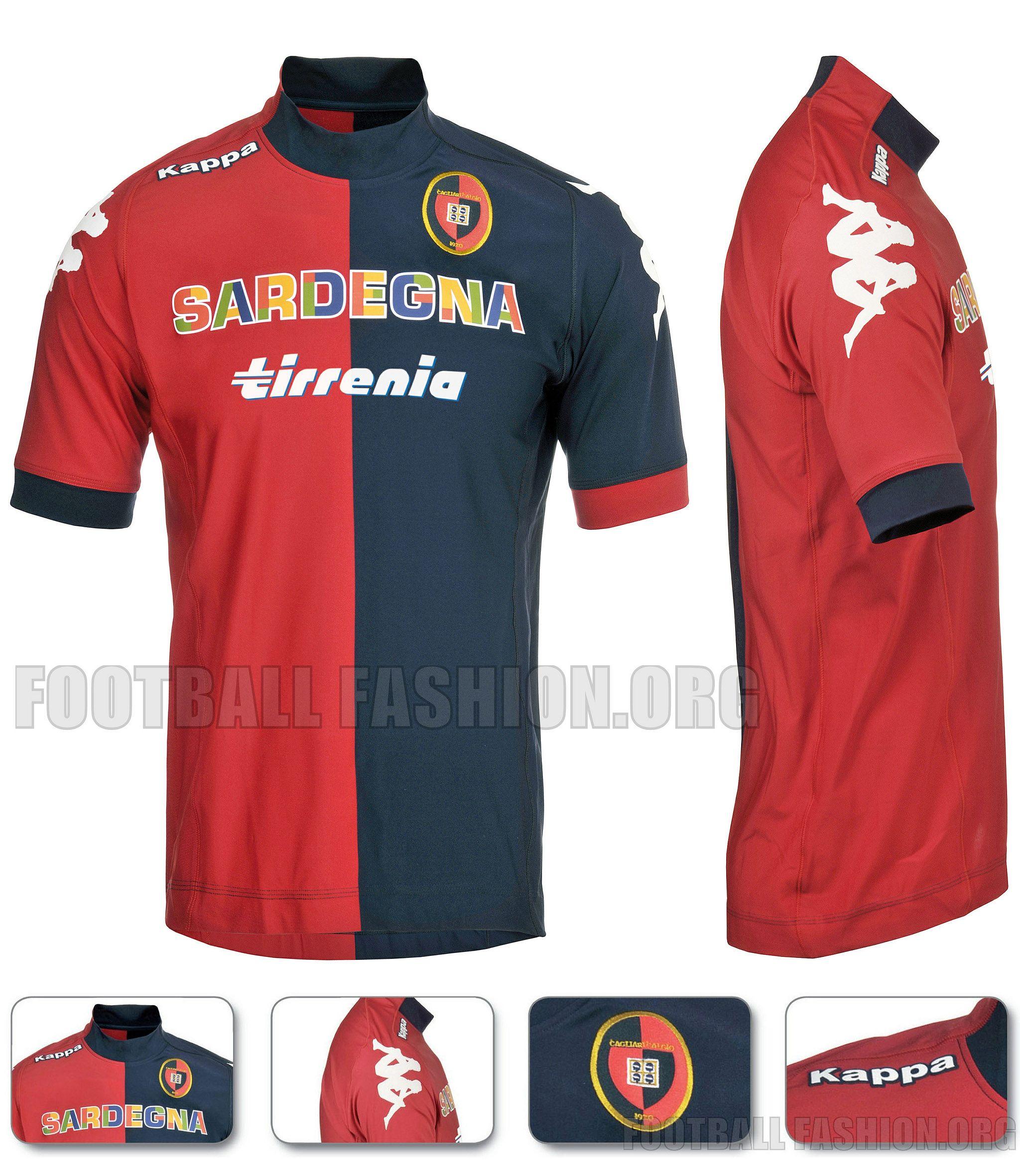 cagliari 20122013_1home Camisas de futebol, Camisa, Futebol