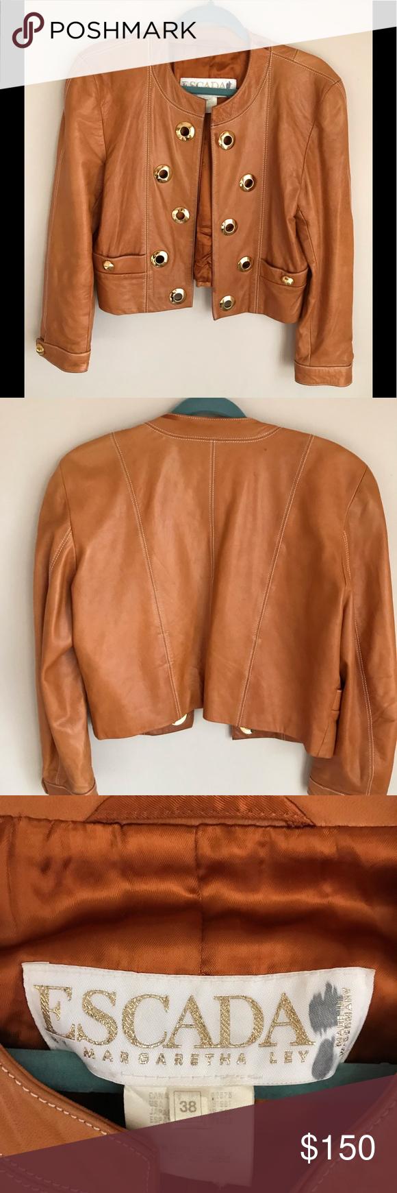 Escada Vintage Leather Jacket Vintage Leather Jacket Leather Jacket Jackets [ 1740 x 580 Pixel ]