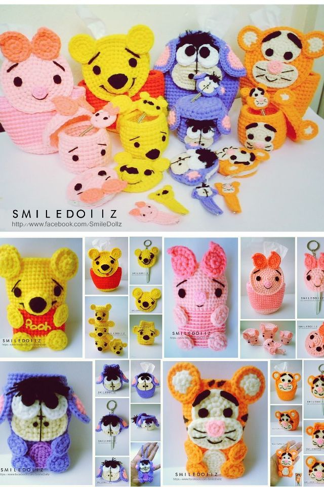 Facebook.com/ideas.SMD cute crochet cozies and containers- winnie ...