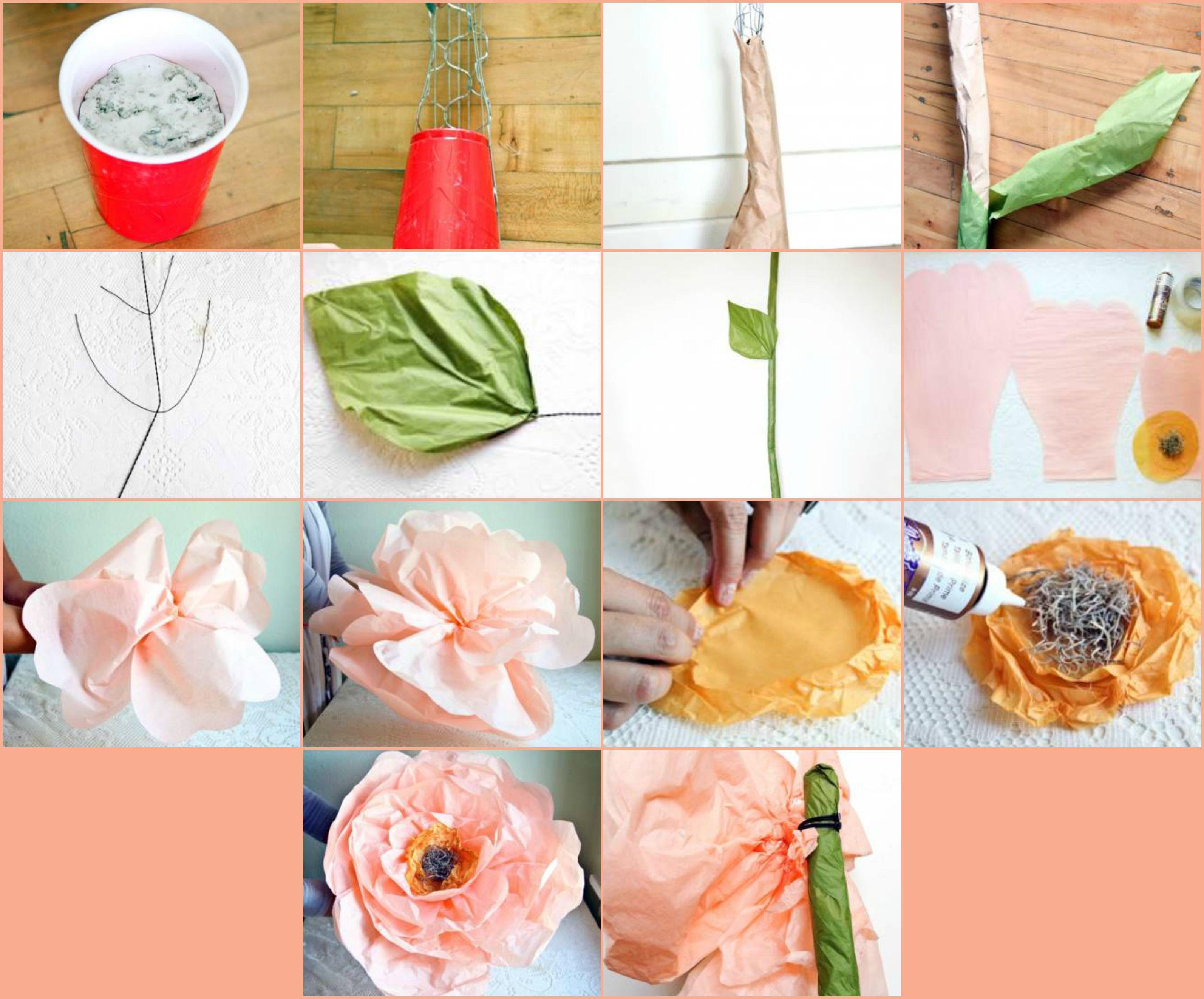 Como Hacer Flores Gigantes De Papel Crepe Flores Giant Paper