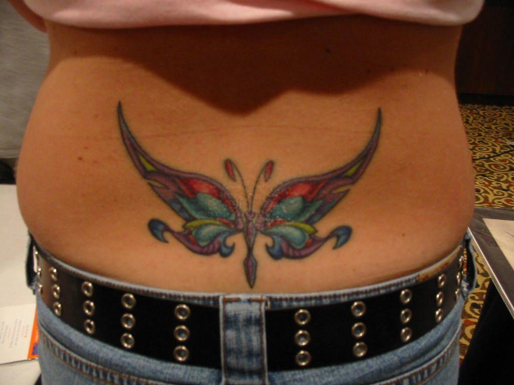 Cute tattoo ideas for lower back butterfly tattoo design girls lower back  tattooideastrend