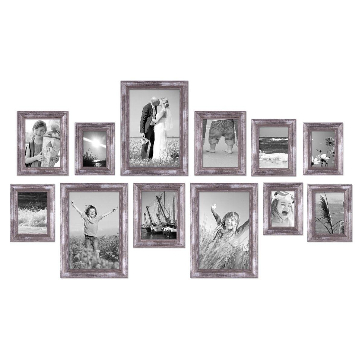 12er-Set Bilderrahmen Silber Barock Antik, 10x15, 13x18, 15x20 und ...