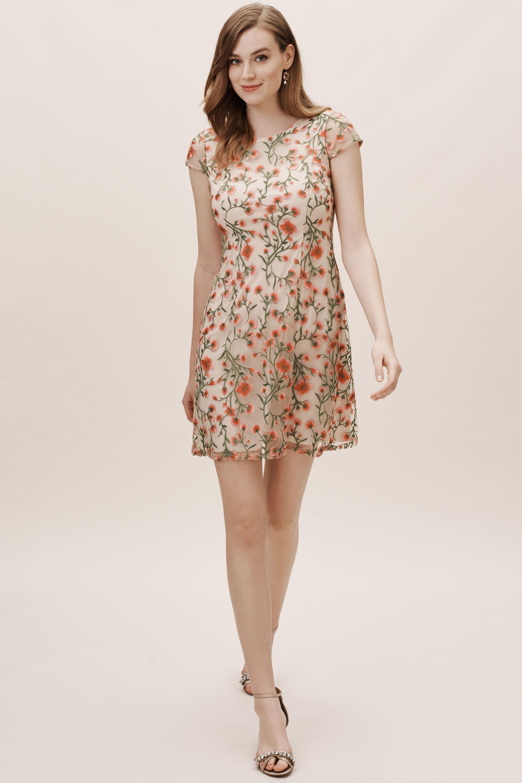 sorrento dress - bhldn kleider hochzeitsgast koralle bhldn