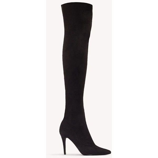 sports shoes e66b9 eb397 NA-KD Shoes Stretchy Over Knee Boots ( 76) ❤ liked on Polyvore featuring