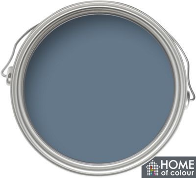 Home Of Colour Feature Wall Blue Slate Matt Emulsion Paint 1l Homebase