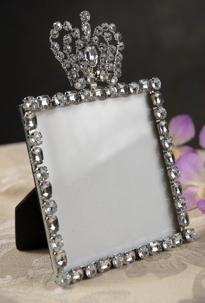 Diamond Crown Top Rhinestone Frame, Table Number Frames | Table ...