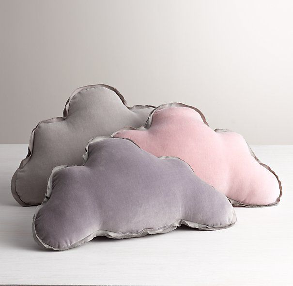Clouds - Washed Velvet Decorative Pillow