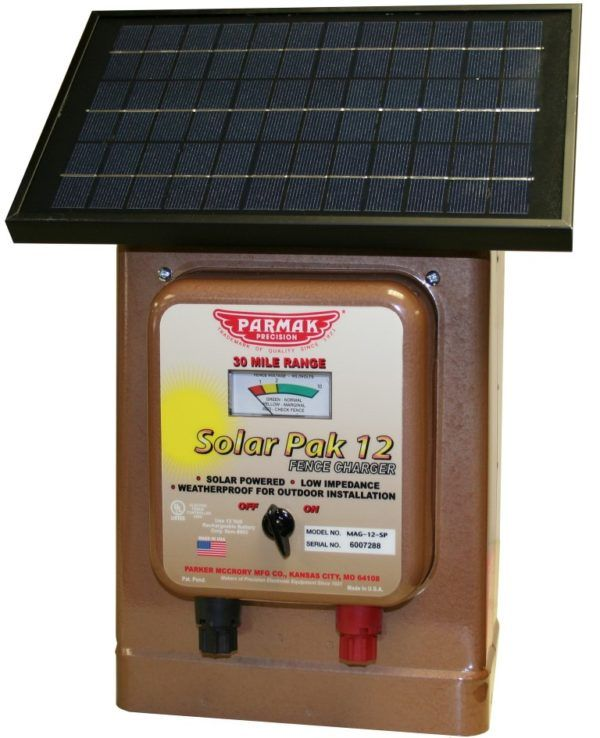 Model Mag 12 Sp 12 Volt Solar Battery Operated 30 Miles Featuring The Latest State Of The Art Solar Panel Fence Charger Electric Fence Solar Electric Fence