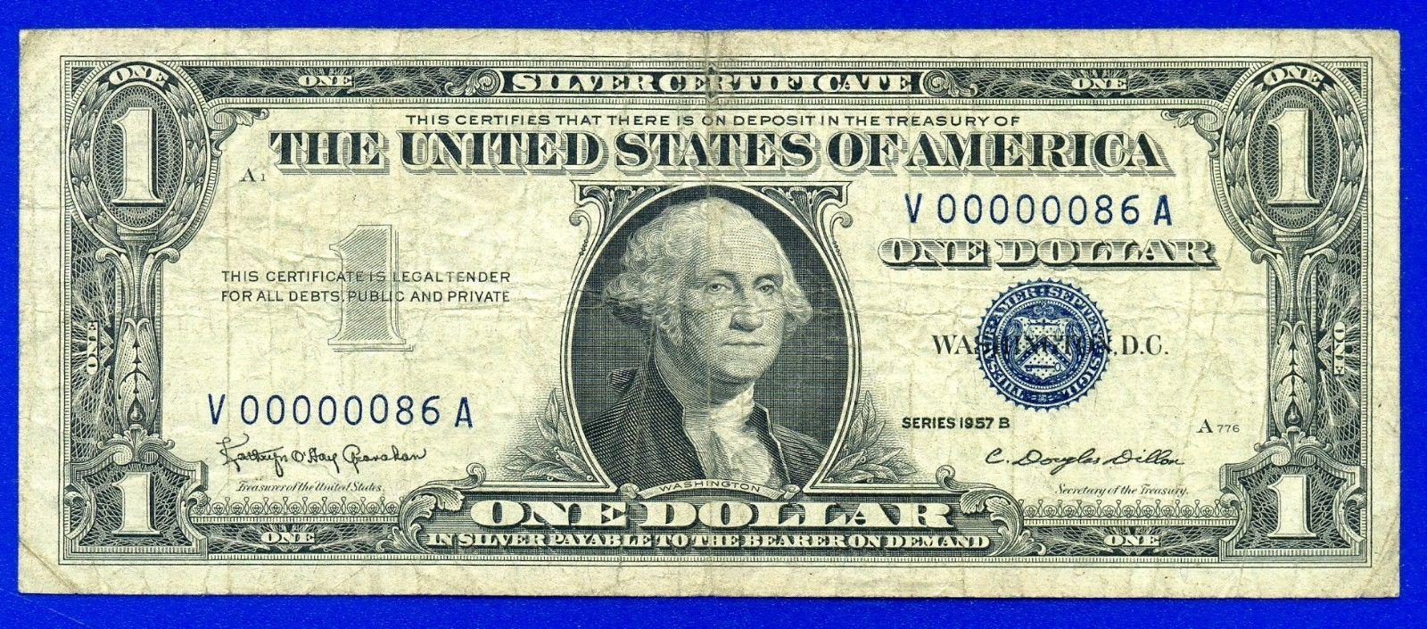 1957 B 1 Silver Certificate Birthday Note Rare
