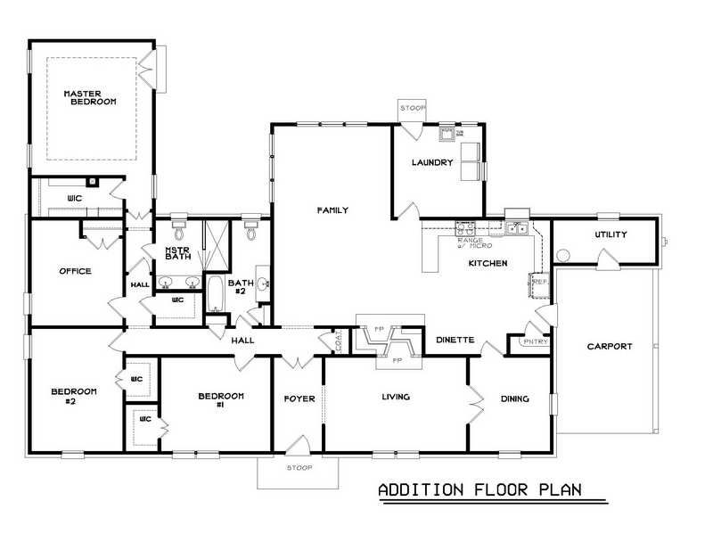 ranch addition floor plans