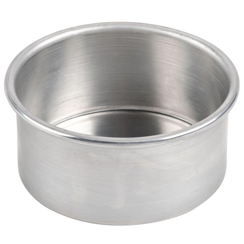 6 x 3 round aluminum straight sided cake pan cake pans
