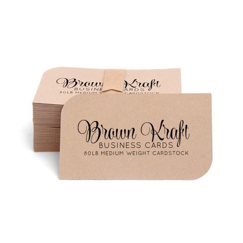 Kraft Cards / Business Cards 100-pk | Standard business card size ...