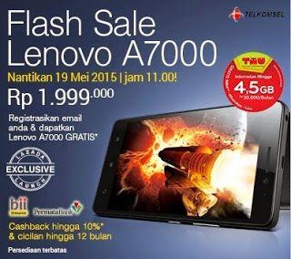 Flash Sale Lenovo A7000 Android Lollipop 55 Inch Murah Rp 1999000